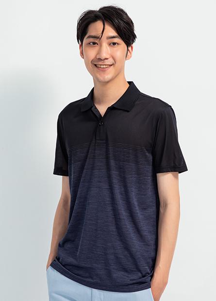 漸層素色POLO衫