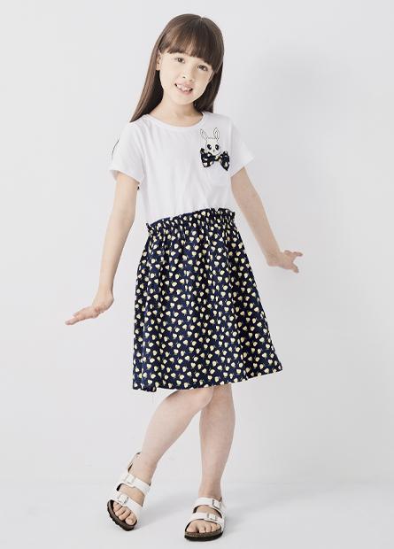 女童兔子口袋洋裝