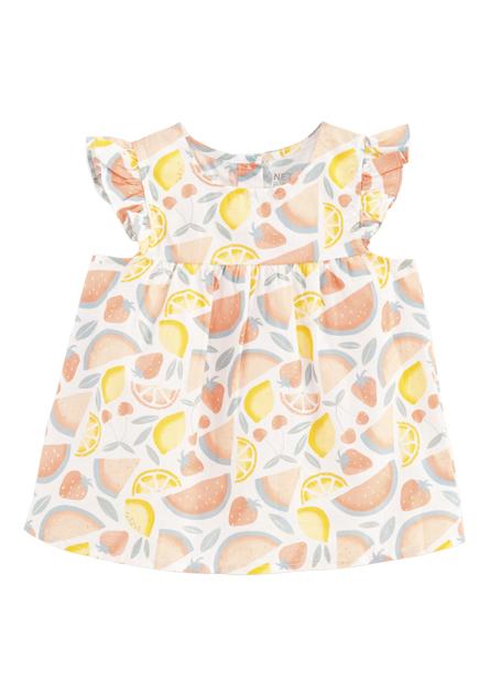 女嬰印花背心洋裝
