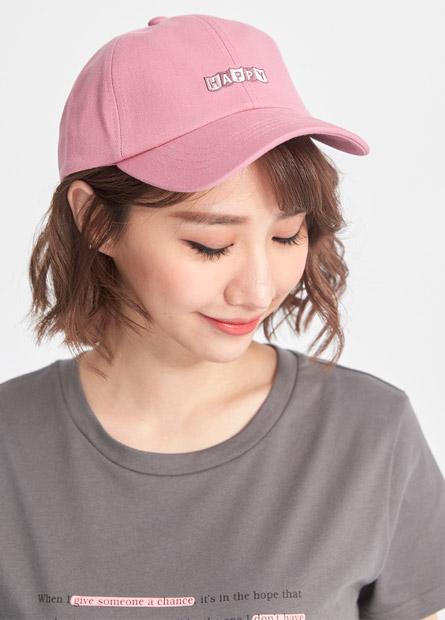 女HAPPY繡字棒球帽