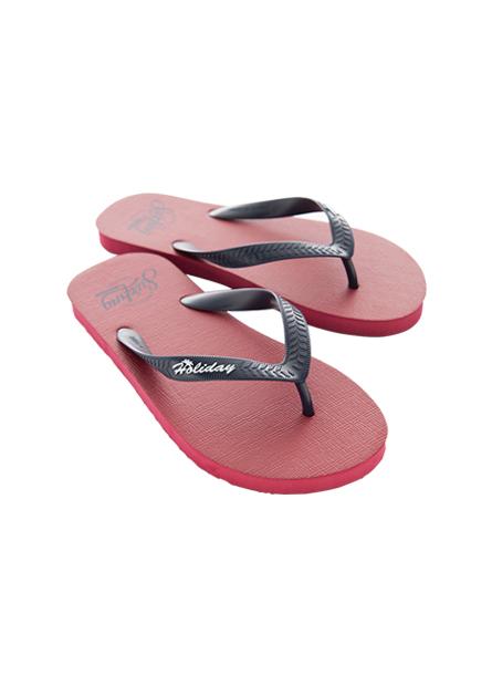 夏日撞色海灘夾腳鞋