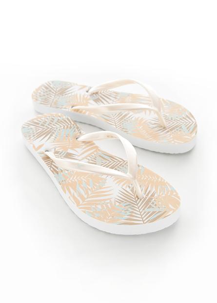 繽紛印花海灘夾腳鞋