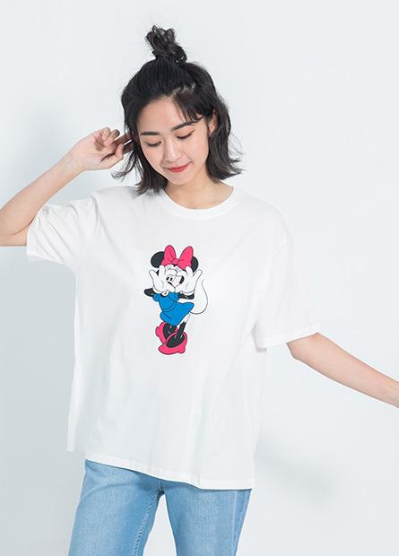 迪士尼角色落肩短T