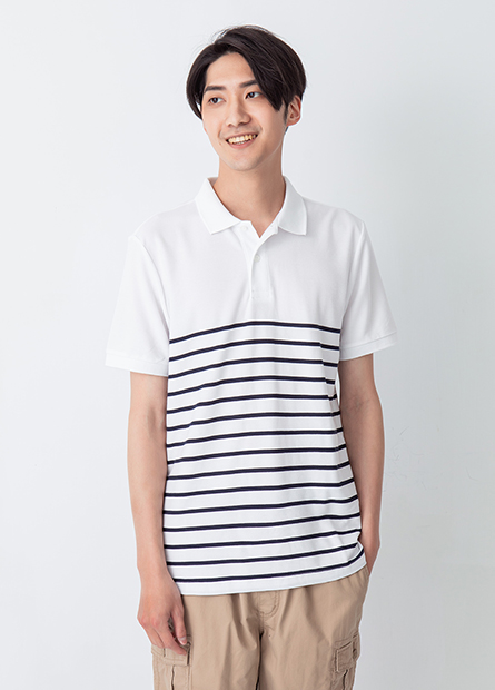 半身條紋POLO衫
