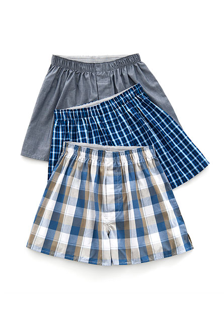 純棉平口內褲(三入)