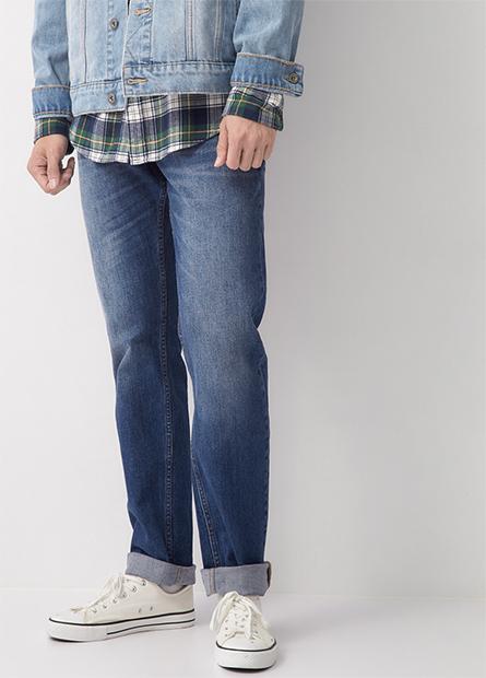 Slim Fit修身牛仔長褲