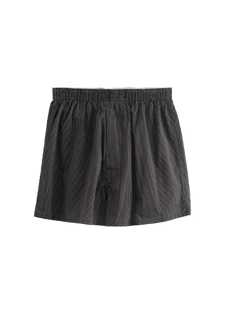 格紋純棉平口內褲