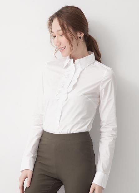 門襟半荷葉商務襯衫