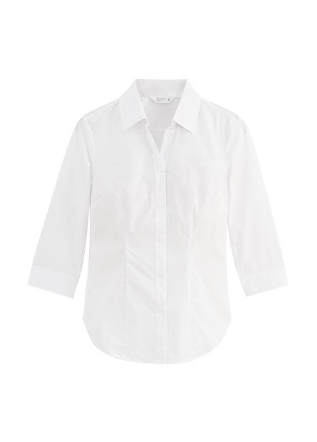 V領商務中長袖襯衫