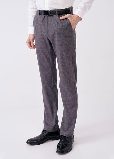 多色修身斜紋直筒長褲