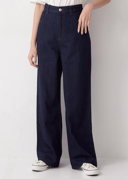 基本牛仔寬褲