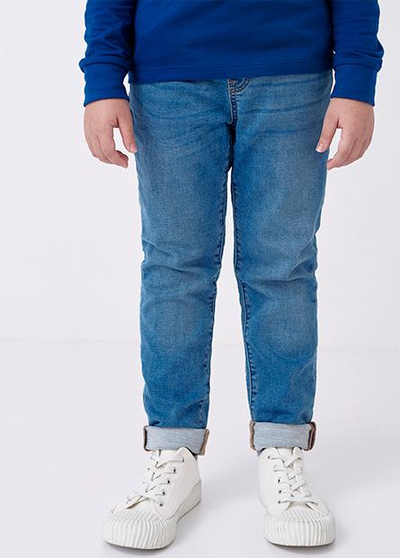 男童修身直筒牛仔褲