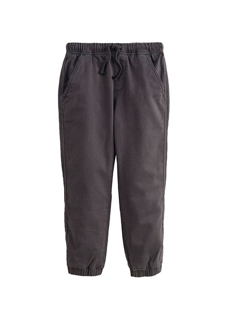 Regular Fit男童休閒縮口長褲