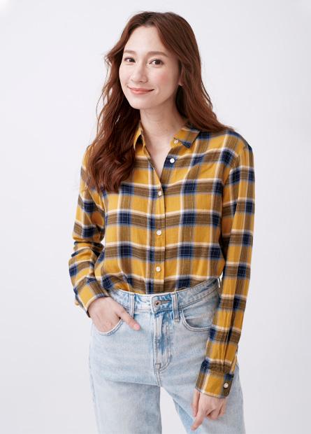 基本法蘭絨長袖襯衫