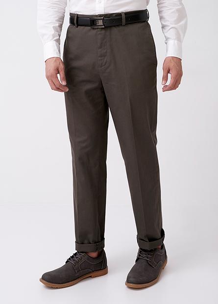 傳統紳士防皺長褲