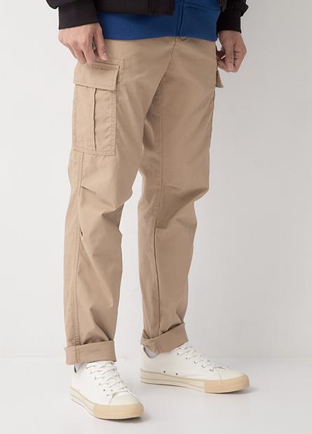 多口袋工作長褲