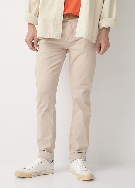 窄管合身牛仔褲