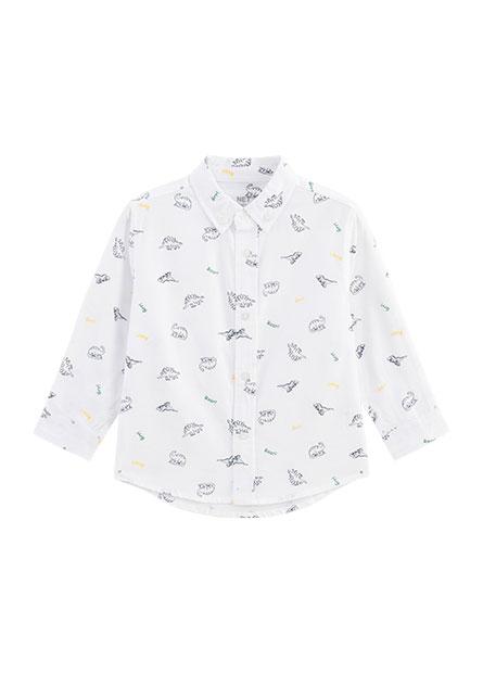男嬰釘釦領長袖襯衫