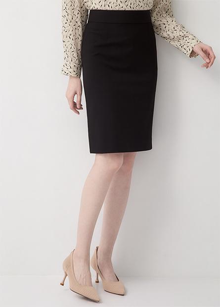 Slim Fit及膝商務窄裙