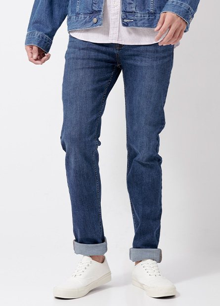 Skinny Fit合身窄管牛仔褲