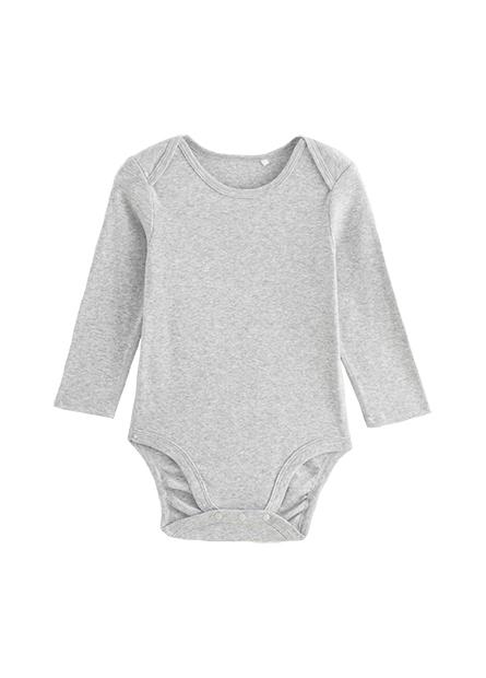 嬰兒拷克邊素面包臀衣