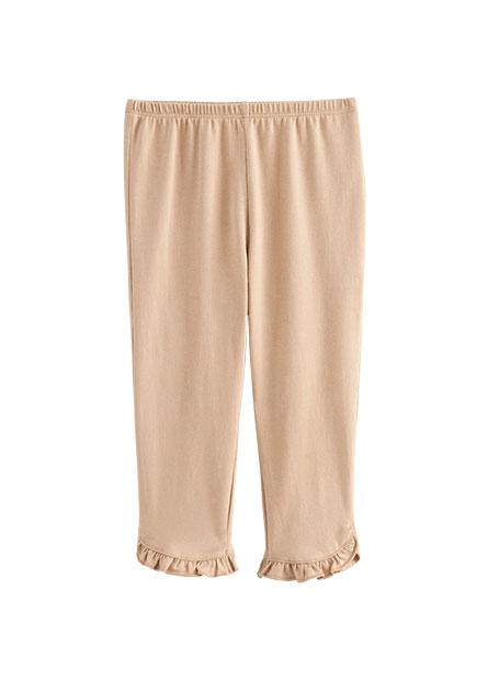 女嬰褲管荷葉邊內搭褲