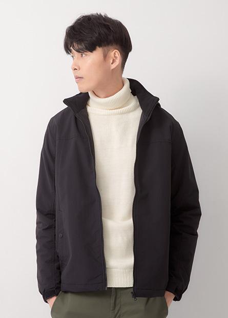 立領鋪棉連帽夾克外套