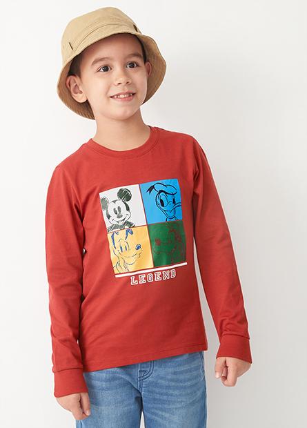 男童米奇好朋友印花長袖T恤