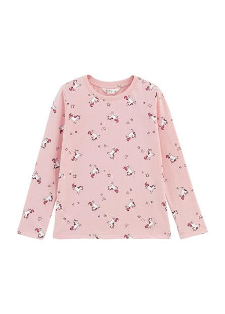 女童滿版印花長袖T恤