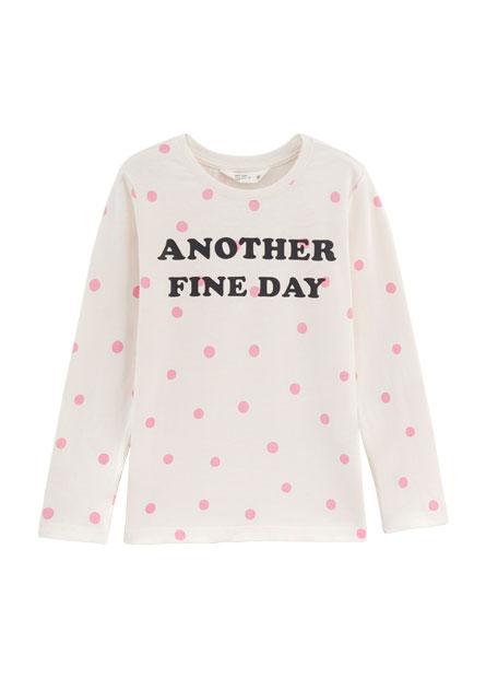女童滿版印字長袖T恤