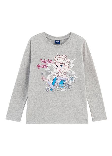 女童冰雪奇緣印花長袖T恤