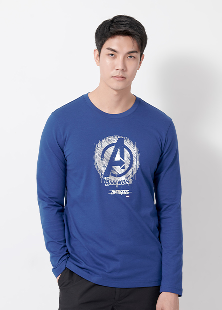 復仇者標誌印花長袖T恤