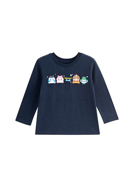 男嬰波力印花長袖T恤