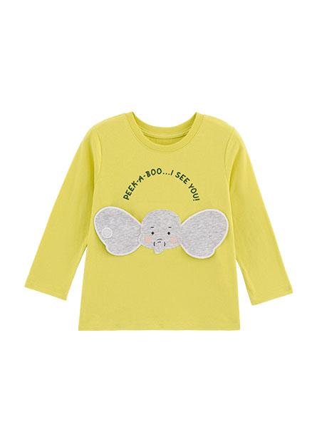 男嬰立體大象耳朵長袖T恤