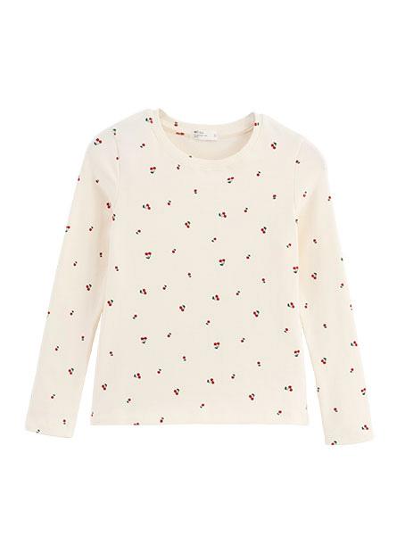 女童滿版印花厚棉長袖T恤