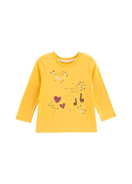 女嬰亮片森林印花長袖T恤
