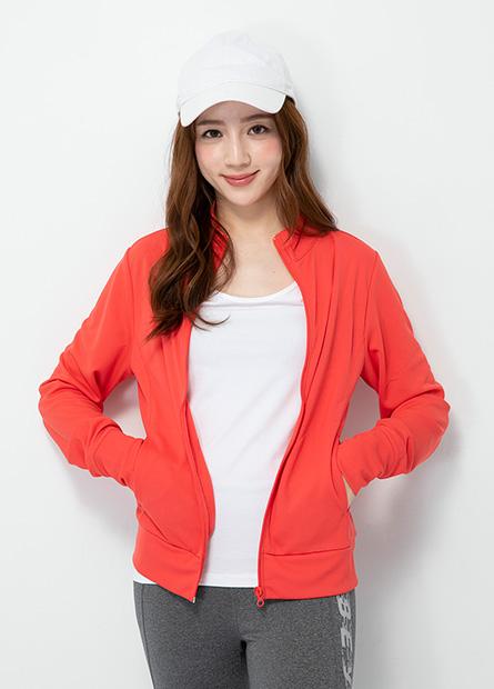 素色抗UV立領外套