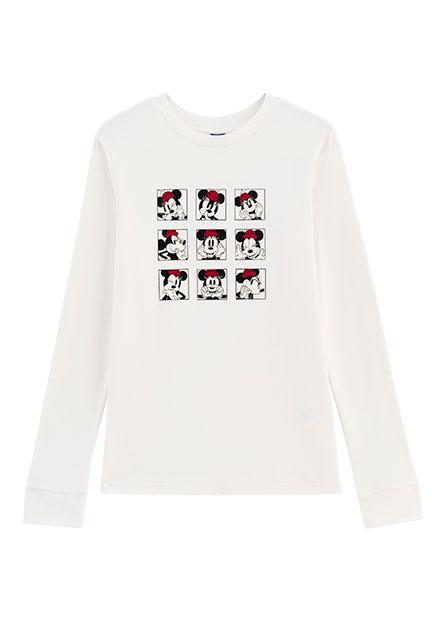 迪士尼九宮格印花長袖T恤