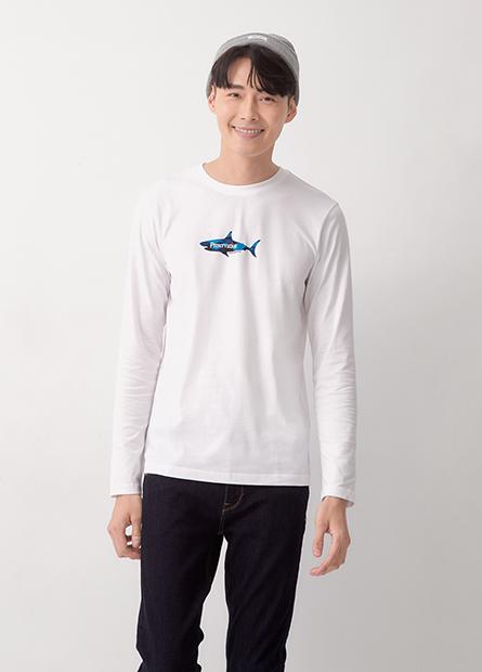 迷彩鯊魚印花長袖T恤