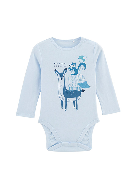 嬰兒印花包臀衣