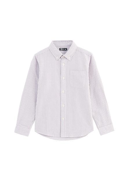 男童純棉休閒長袖襯衫