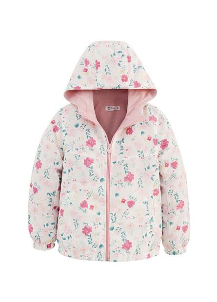 女童花卉鋪棉外套