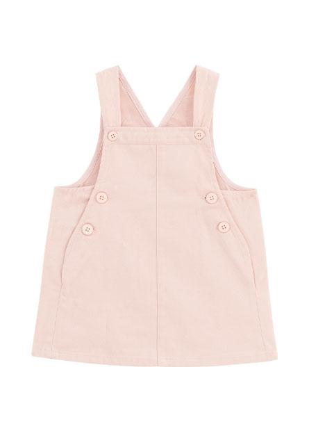 女嬰純棉粉色吊帶洋裝