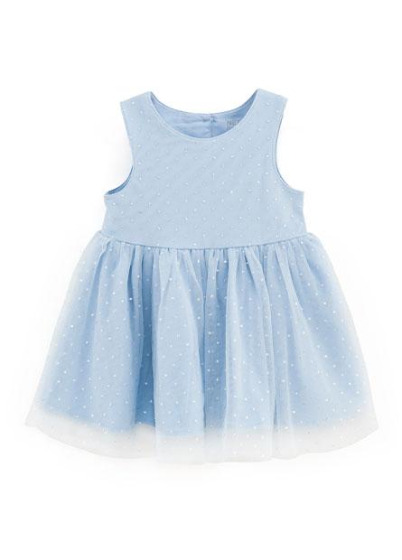 女嬰點點網紗洋裝
