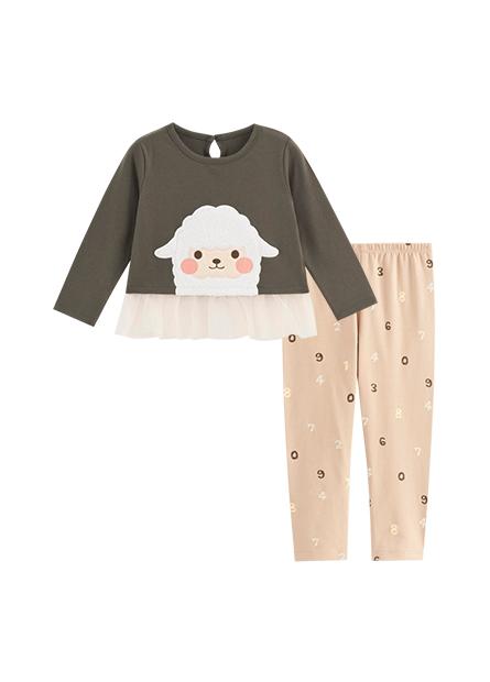 女嬰綿羊網紗套裝