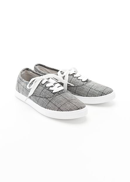 休閒綁帶帆布鞋