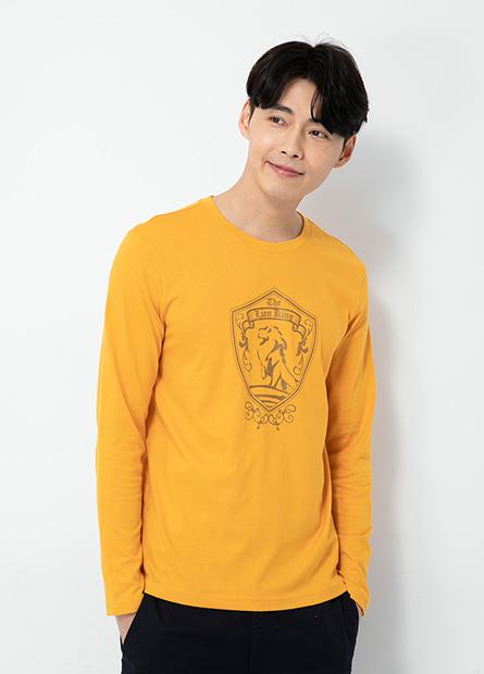 獅子王印花長袖T恤