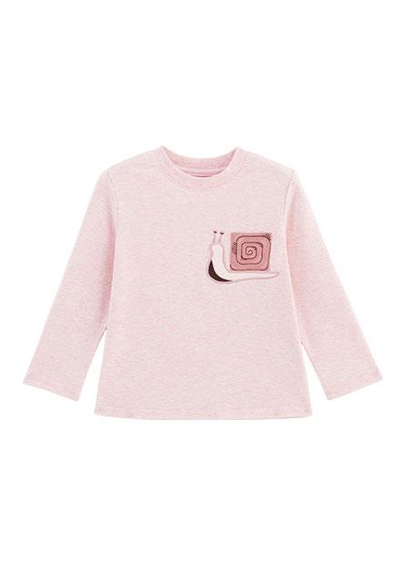 嬰兒蝸牛刺繡長袖T恤