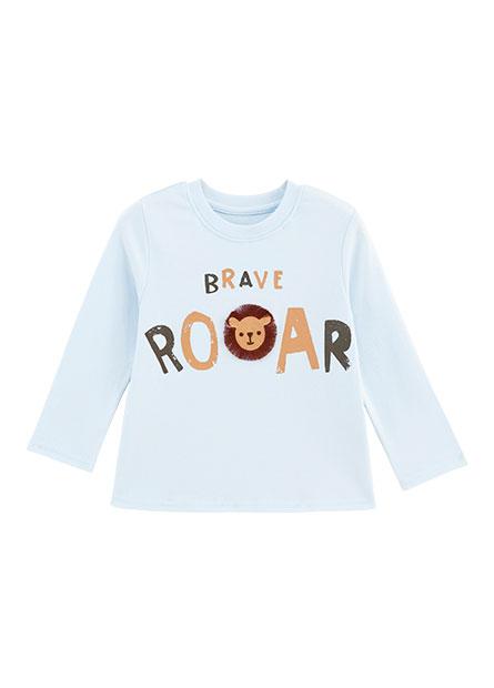 男嬰獅子印花長袖T恤