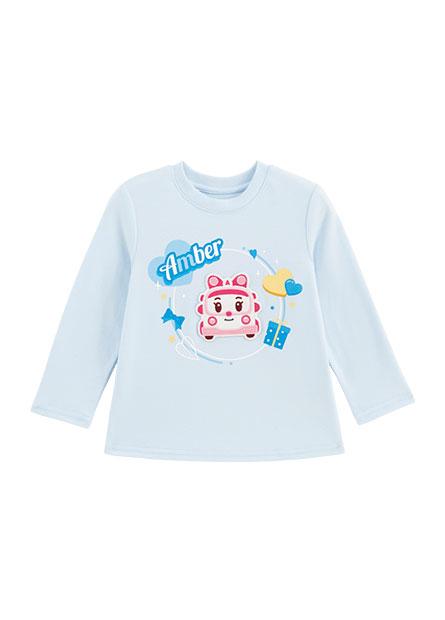 嬰兒Amber印花長袖T恤